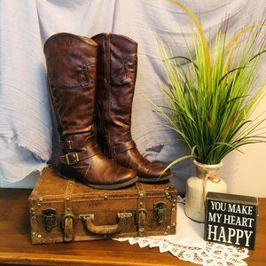 """Baretraps """"Jetty"""" Brown Western Style Leather Boot"""